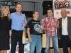 Jawa 50: 1. Václav Záveský, 2. Miloš Prouza, 3. Marek Imlauf (všetci CZ). Vpravo Milan Domoracký z Classic Clubu Hlohovec