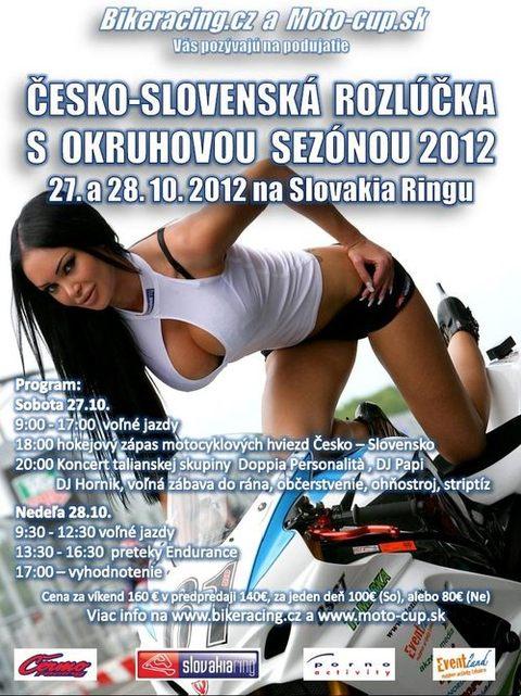 ČESKO-SLOVENSKÁ ROZLÚČKA S OKRUHOVOU SEZÓNOU 2012