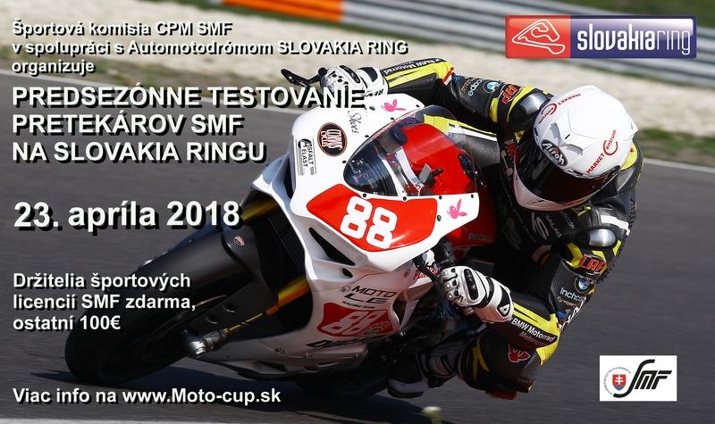 Bezplatné predsezónne testovanie pre pretekárov SMF na Slovakia Ringu bude 23. apríla