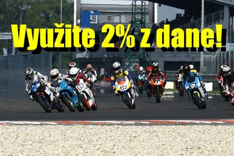 Prezentujte dve percentá z daní na Moto-cup.sk