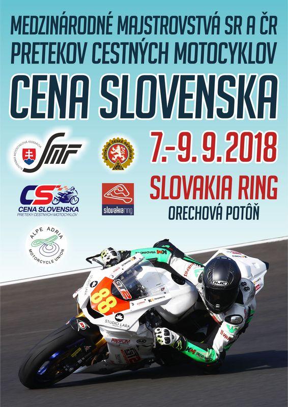 Cena Slovenska na Slovakia Ringu: 7.-9. september 2018