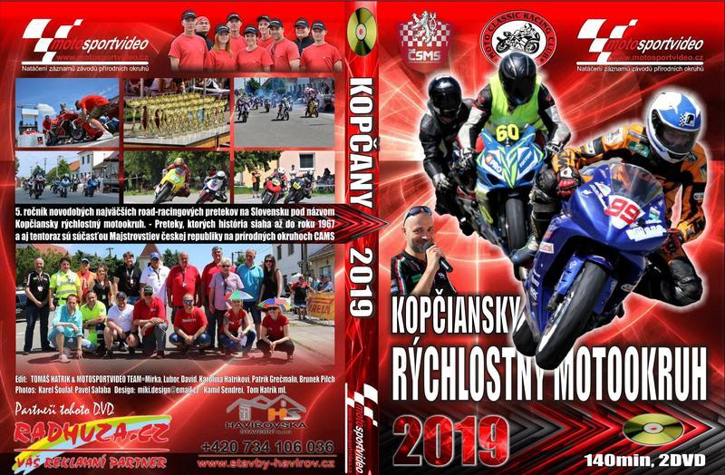 2DVD Kopčany 2019 od Motosportvidea