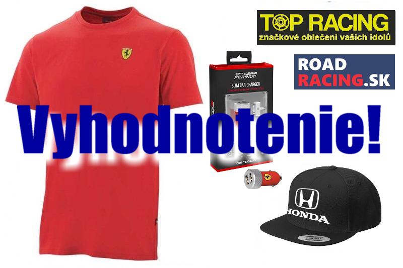 Vyhodnotenie súťaže o ceny z F1 od spoločnosti TOP RACING