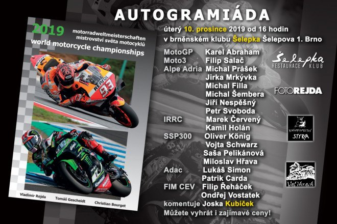 Autogramiáda a křest knihy MS motocyklů 2019