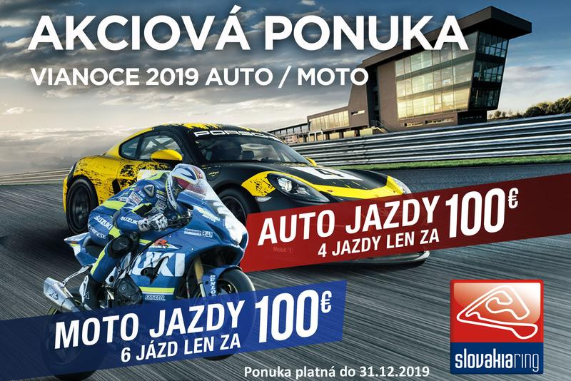 Akciová ponuka od SLOVAKIA RINGU – Vianoce 2019 auto / moto
