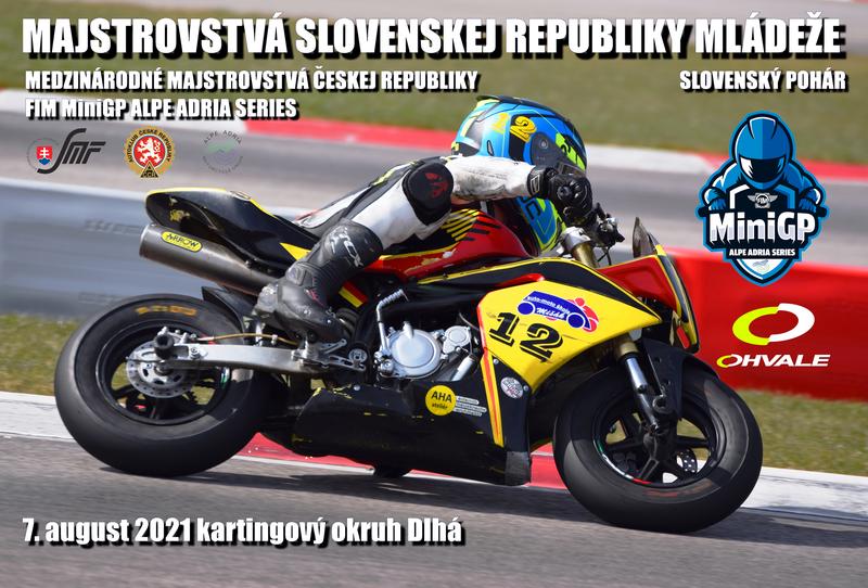 Výsledky a live timing: MSR mládeže, MMČR mini racing a FIM Alpe Adria MiniGP Series – Dlhá