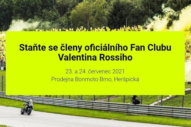 Staňte se členy oficiálního Fan Clubu Valentina Rossiho