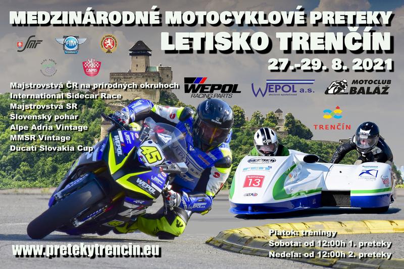 Informácie k motocyklovým pretekom na letisku v Trenčíne v roku 2021