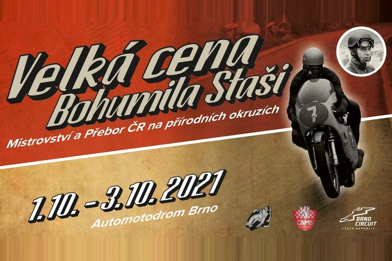 Podzimní motocyklové závody na Masarykově okruhu ponesou jméno po Bohumilu Stašovi