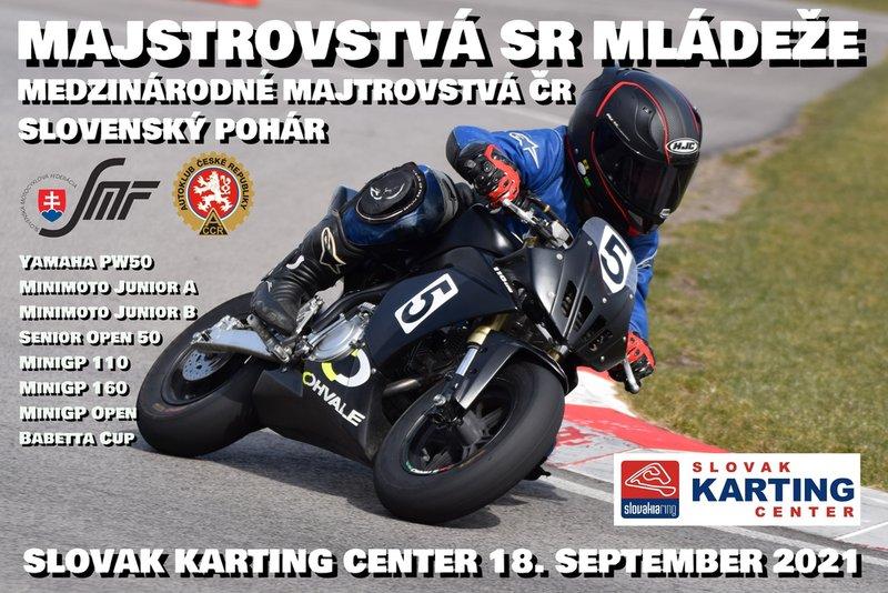 Informácie k podujatiu MSR mládeže a MMČR Miniracing 18. 9. 2021 na Slovakia Ringu