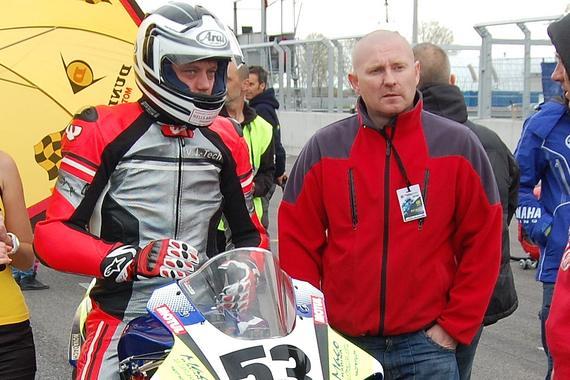 Miroslav Sloboda (na motocykli) a Milan Murgaš