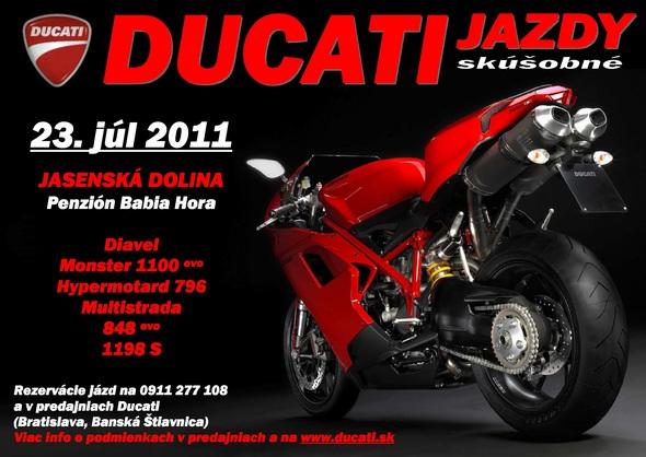 Ducati Slovakia pozýva na dve predvádzacie akcie