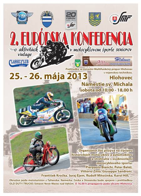 2. európska konferencia o motocyklových aktivitách seniorov