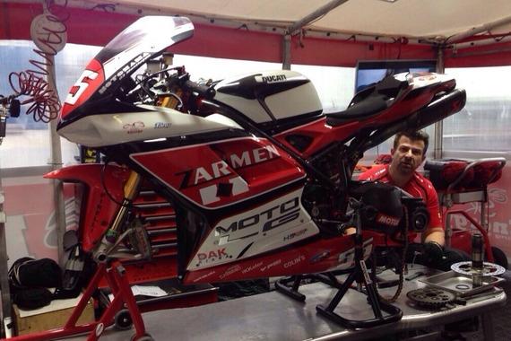 Tomáš Svitok sa takmer po roku vrátil k motocyklu Ducati 1098 R