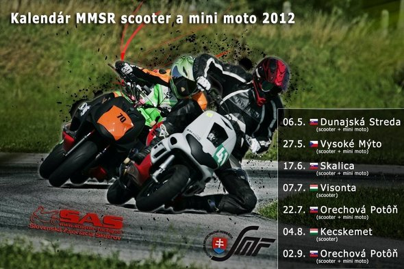 Aktualizovaný kalendár MM SR Scooter
