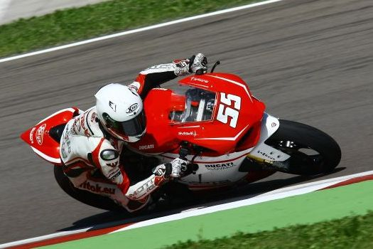 Tomáš Svitok a tím Moto LG v Misane